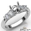 5 Stone Prong Setting Diamond Engagement Round Semi Mount Ring 14k White Gold 0.5Ct - javda.com