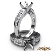 0.75Ct Round Diamond Channel Setting Engagement Semi Mount Ring 14k White Gold - javda.com