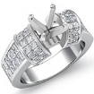 1.96Ct Diamond Engagement Women Ring 14k White Gold Princess Invisible Semi Mount - javda.com