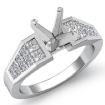 0.78Ct Princess Diamond Engagement Women's Ring Invisible Setting 14k White Gold - javda.com