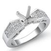 0.68Ct Princess Diamond Women Engagement Ring Invisible 14k White Gold Semi Mount - javda.com