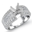 1.46Ct Round & Princess Diamond Engagement Invisible Setting Ring 14k White Gold - javda.com
