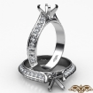0.35Ct Diamond Engagement Ring Semi Mount made in 14k White Gold Pave Setting - javda.com