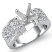 1.29Ct Princess Diamond Invisible Setting Engagement Women's Ring 14k White Gold - javda.com