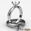 Round Diamond Engagement Ring Channel Setting 14k White Gold Wedding Band 0.31Ct - javda.com
