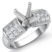1.06Ct Princess Diamond Engagement Women's Ring Invisible Setting 14k White Gold - javda.com