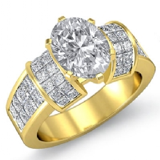 Oval diamond  Ring in 18k Gold Yellow