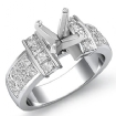 1.03Ct Princess Diamond Invisible Setting Engagement Women's Ring 14k White Gold - javda.com