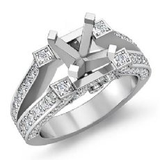 0.71Ct. Round Diamond Women's Engagement Ring Setting 14k White Gold Semi Mount