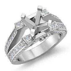 0.71Ct. Round Diamond Women's Engagement Ring Setting 14k White Gold Semi Mount