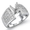 1.74Ct Diamond Engagement Women's Ring Princess Invisible Setting 14k White Gold Semi Mount - javda.com