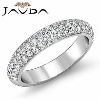 Round Cut Pave Diamond Women's Wedding Engagement Band Ring 14k White Gold 1Ct