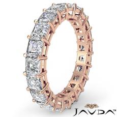 Asscher Cut Diamond Women's Eternity Wedding Band Ring 14k Rose Gold  (3.55Ct. tw.)