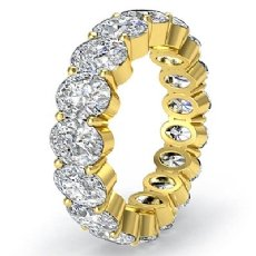 Oval Diamond Eternity Women's Wedding Band Engagemet Ring 14k Gold Yellow  (4.15Ct. tw.)