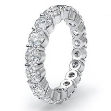 Eternity Wedding Band Shared Prong Round Diamond Women's Ring Platinum 950  (3.6Ct. tw.)