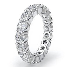 Shared Prong Round Diamond Eternity Wedding Band Women's Ring Platinum 950  (5.1Ct. tw.)