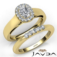 Cathedral Filigree Bridal Cushion diamond engagement Ring in 14k Gold Yellow