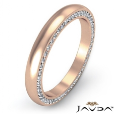 Dome Channel Round Diamond Side Eternity Men's Wedding Band 14k Rose Gold  (1Ct. tw.)