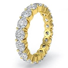 Eternity Wedding Band Shared Prong Round Diamond Women's Ring 18k Gold Yellow  (3.6Ct. tw.)