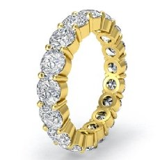 Shared Prong Round Diamond Eternity Wedding Band Women's Ring 18k Gold Yellow  (5.1Ct. tw.)