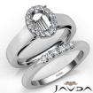 U Prong Diamond Engagement Semi Mount Ring Oval Bridal Set 14k White Gold 0.43Ct - javda.com