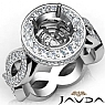 Round Cut Diamond Engagement Ring Pave Setting 14K White Gold Wedding Band 1.25Ct