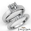 U Prong Diamond Engagement Semi Mount Ring Princess Bridal Set 14k White Gold 0.42Ct - javda.com