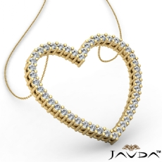 Round Diamond Heart Pendant 14k Gold Yellow  (0.59Ct. tw.)