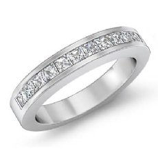 0.93Ct Pave Diamond Wedding Band Matching Set 14k White Gold