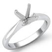 <Gram> Diamond Tapper Solitaire Engagement Ring Setting 14k White Gold Semi Mount 2mm - javda.com