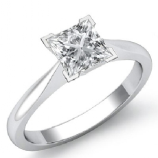 Tapered Solitaire diamond Ring 14k Gold White