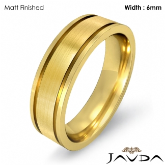 cb9cdc6d19f0e Details about Men Wedding Solid Band 14k Yellow Gold Flat Fit Plain Ring  6mm 8.2gm Size 8-8.75