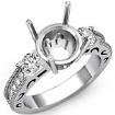 Round Diamond Vintage Engagement Three 3 Stone Semi Mount Ring 0.65Ct - javda.com