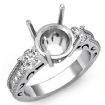 Round Diamond Vintage Engagement Three 3 Stone Semi Mount Ring 0.65Ct - javda.com