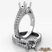 Split Shank Diamond Engagement Round Semi Mount Ring French Pave 14k White Gold 0.7Ct - javda.com