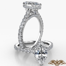 Marquise diamond  Ring in 14k Gold White