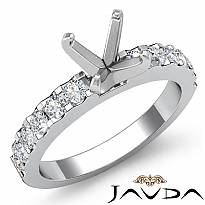 0.47 Ct Round Diamond Engagement Prong Setting Ring Semi Mount 14k White Gold