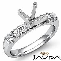 0.31 Ct Round Diamond 6 Stone Engagement Ring Setting 14k White Gold Semi Mount