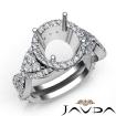 Diamond Engagement Halo Setting Ring Round Shape SemiMount 14k White Gold 1.66Ct - javda.com