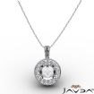 0.6Ct Pre-Set Pave Set Diamond Pendant. Made in 14k White Gold - javda.com