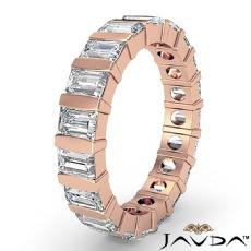 Women's Wedding Eternity Band Baguette Bar Set Diamond Ring 14k Rose Gold  (2Ct. tw.)