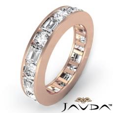 Round Emerald Channel Diamond Womens Eternity Wedding Band 14k Rose Gold  (2.4Ct. tw.)