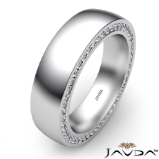 Duel Sided Diamond Eternity Men's Wedding Band in 14k White Gold 1.1 Ct. T.W.