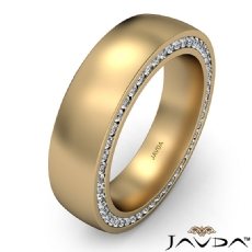 Duel Sided Diamond Eternity Men's Wedding Band in 18k Gold Yellow  T.W. (1.1Ct. tw.)