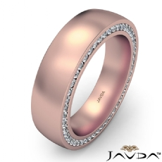 Duel Sided Diamond Eternity Men's Wedding Band in 14k Rose Gold  T.W. (1.1Ct. tw.)