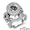 Diamond Engagement Band Bridal Set 14k White Gold Halo Pave Setting Ring 1.8Ct - javda.com
