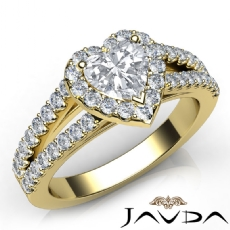 Heart diamond  Ring in 14k Gold Yellow