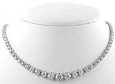 5 Ct. Round Diamond Women Anniversary Necklace W Gold