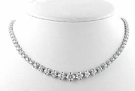 5 Ct. Round Diamond Women Anniversary Necklace W Gold