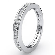 Classic Round Pave Diamond Wedding Band 14k W Gold Women's Eternity Ring 0.40Ct